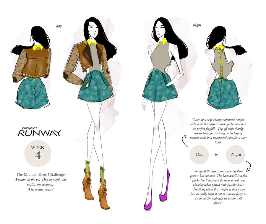 Project Runway Week 4 Woman On The Go By I Anni On Deviantart