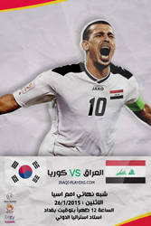 Iraq Vs  Korea Match Poster - volca-iq designer by Volca-iq