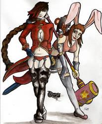 Deamon Mistress and H-Bunny