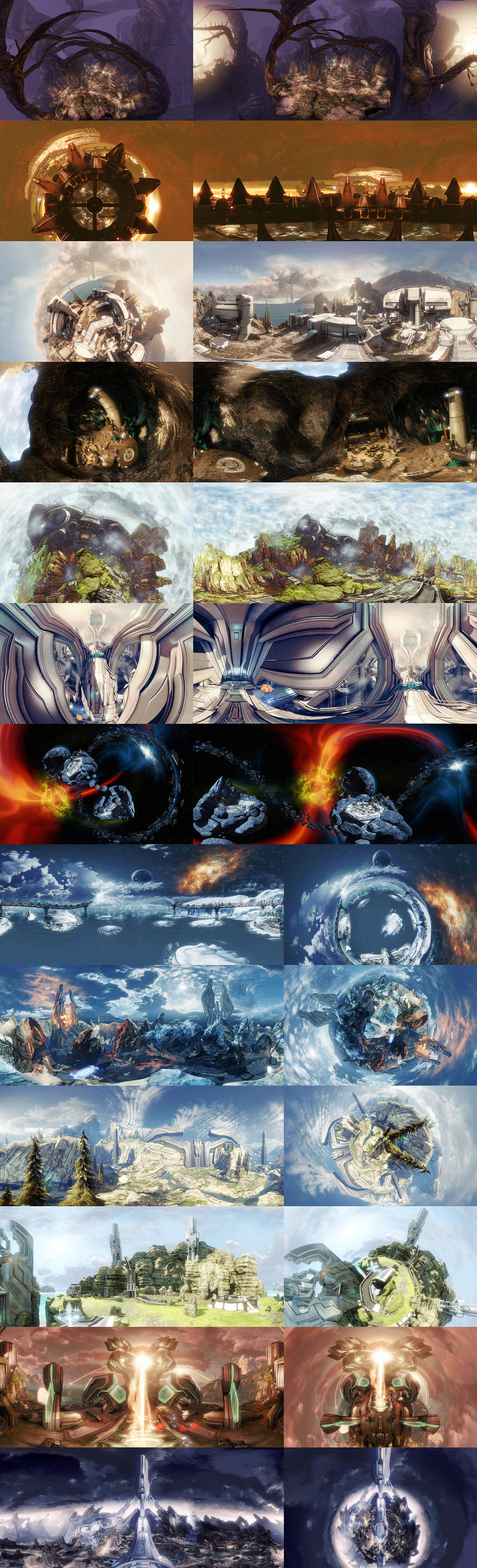 Halo Worlds Wallpaper Pack by snapshot19