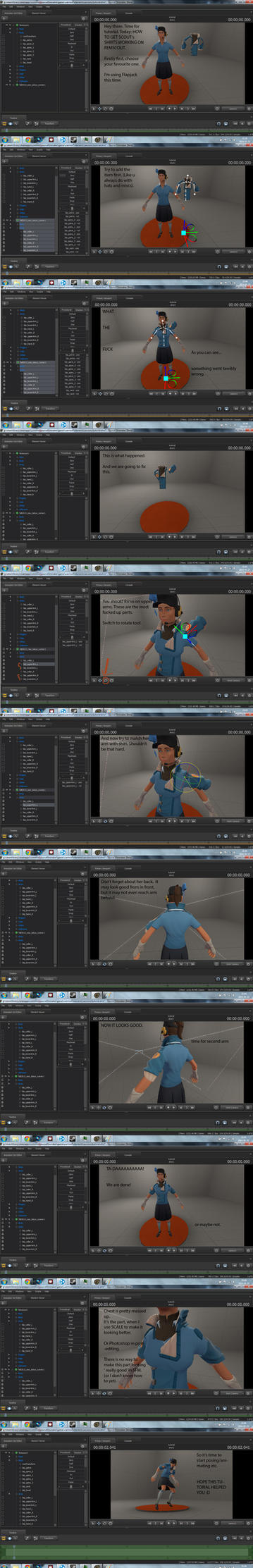 Sfm tutorial matching scouts shirts to femscout by psycholinchan baditri Gallery