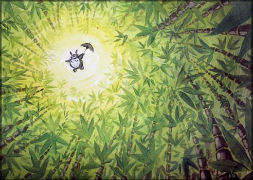 Totoro flying