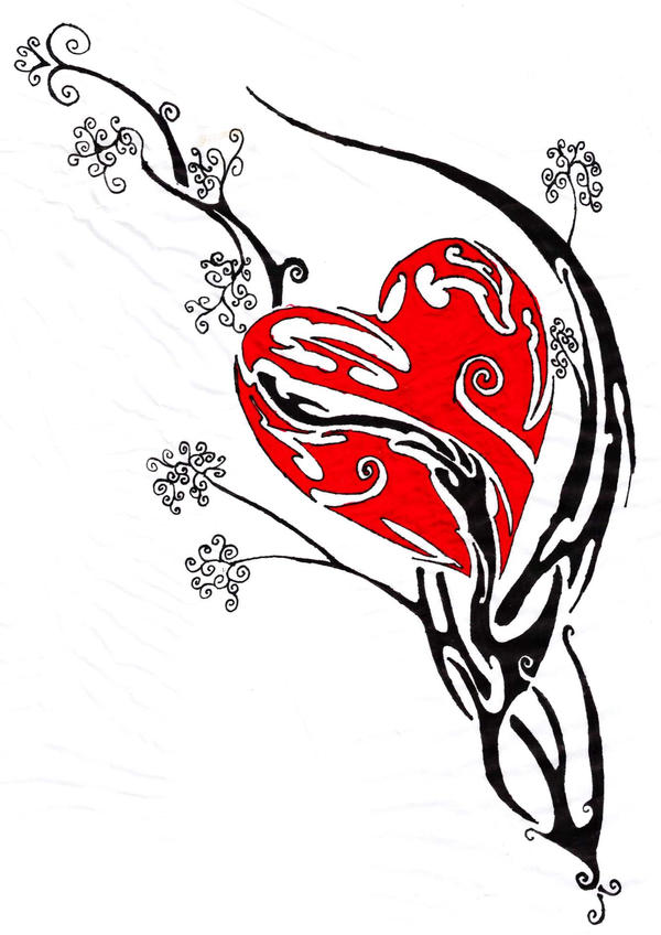 tribal heart tattoo by ~myrddin89 on deviantART