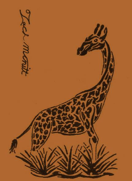 Tribal giraffe tattoo - photo#12