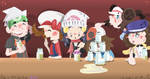Milk Bar Patrons by MagnifiedSun