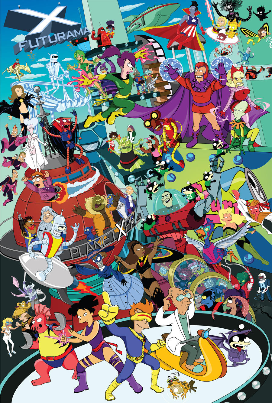 Futurama X-Men Meld by gottabecarl