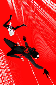 Into the Spider-Verse:  Miles and Gwen