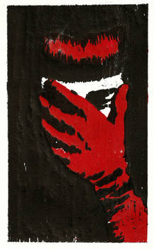 V (Woodcut - Colour)