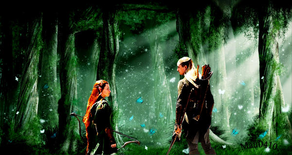 Legolas and Tauriel by Mau0410