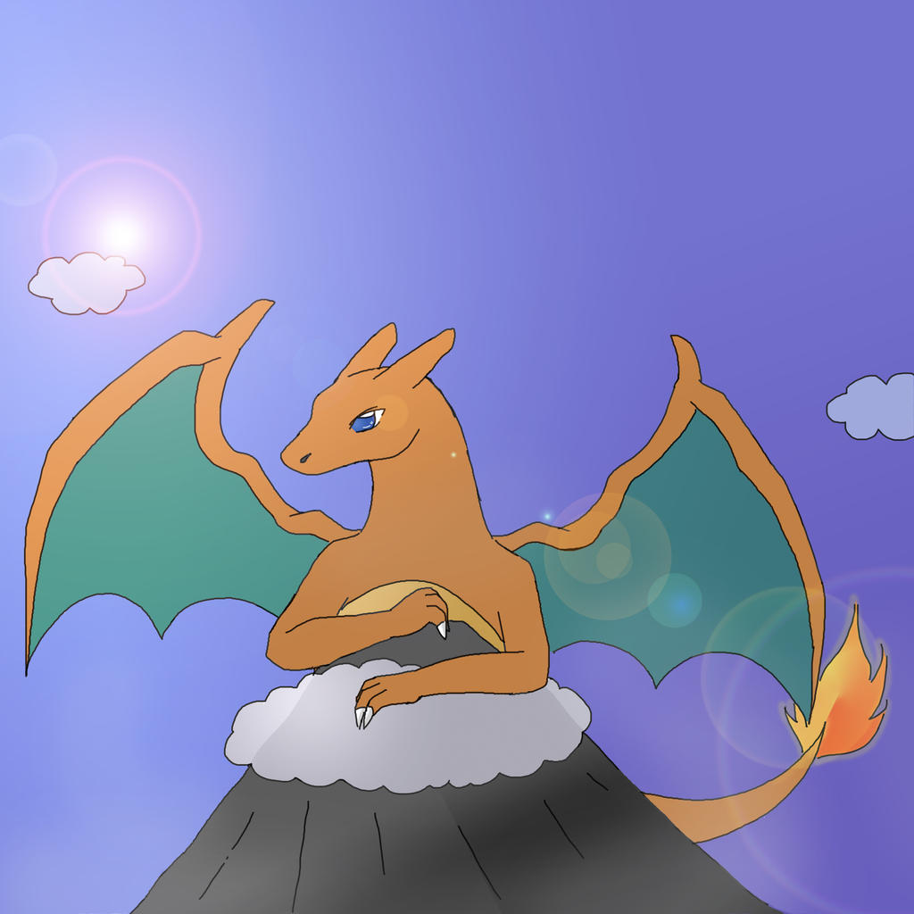 Mt Charizard by sasuxsaku842