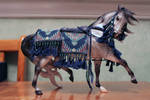 Blue Arabian Model Horse Costume by ChaosToGlory