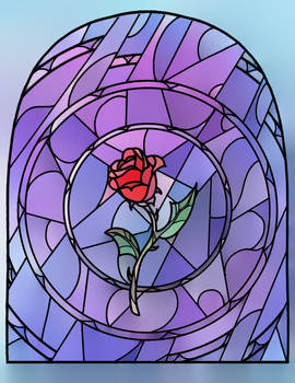 Stained Glass Rose Lineart By Nuyisha