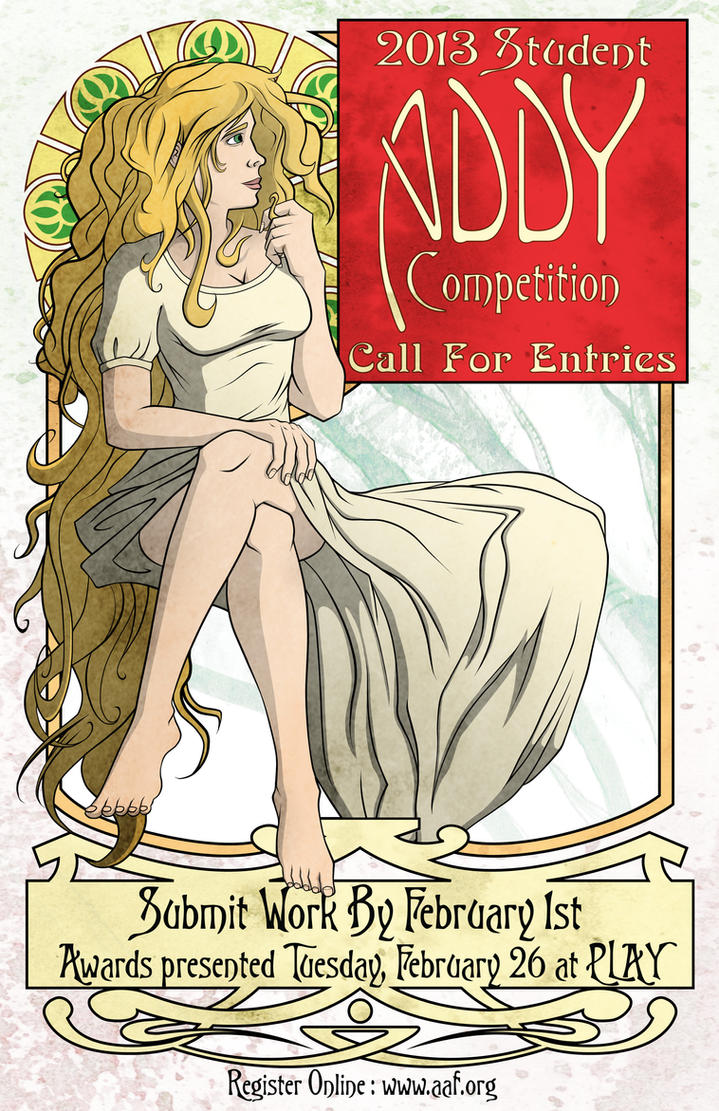 Art Nouveau Addy Poster by Canon-Thought