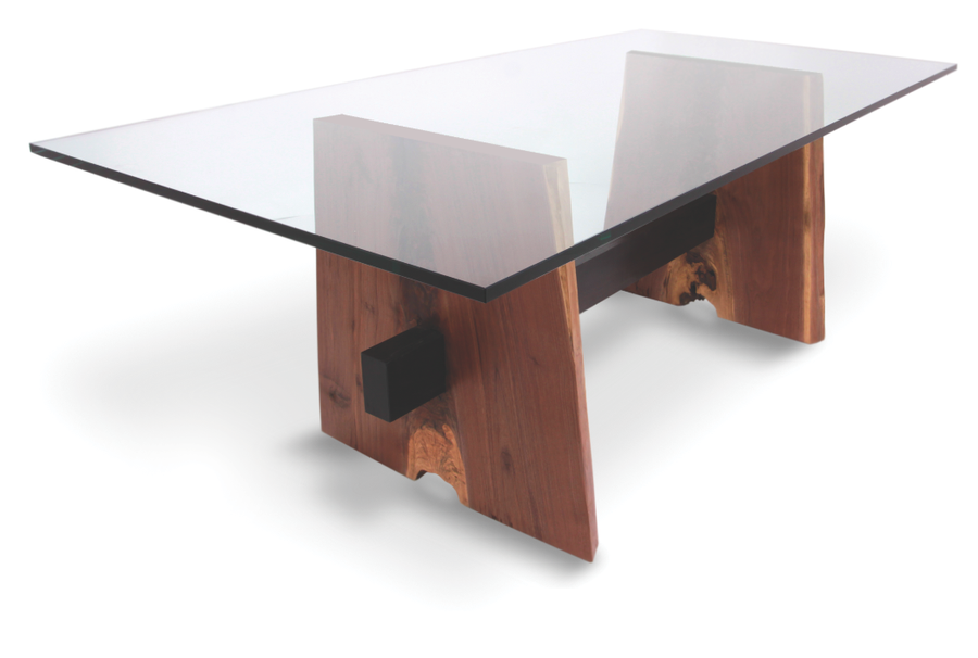 walnut base dining table glass top by rotsenfurniture on deviantart