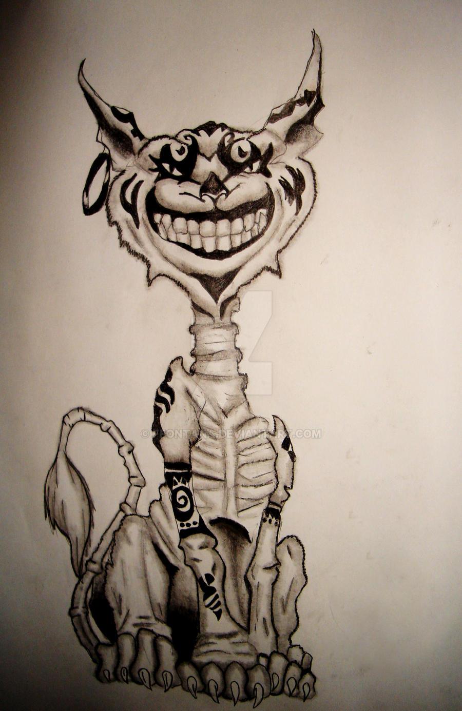 Sketch Evil Cheshire Cat By Ffontana On Deviantart