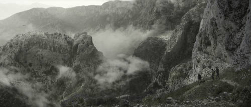 Matte Painting Mountain Landscape