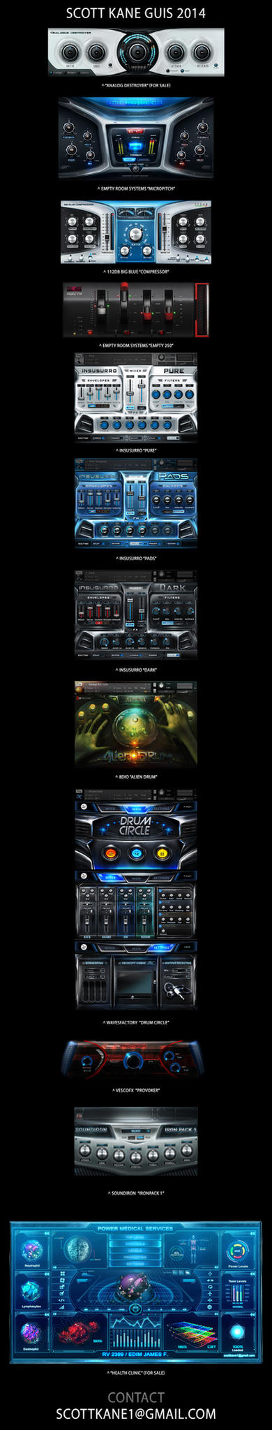 Extreme User Interface Design 2014 by ScottKaneGUIs