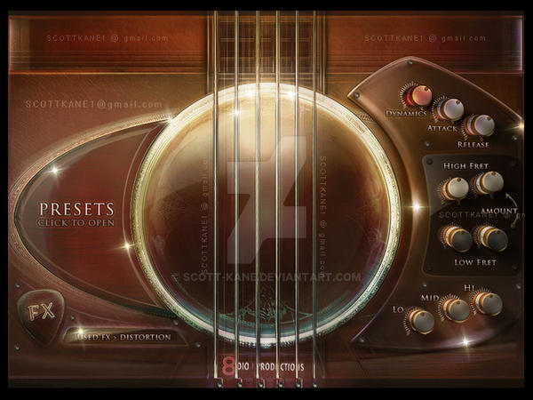 Steel Guitar Kontakt Gui by ScottKaneGUIs
