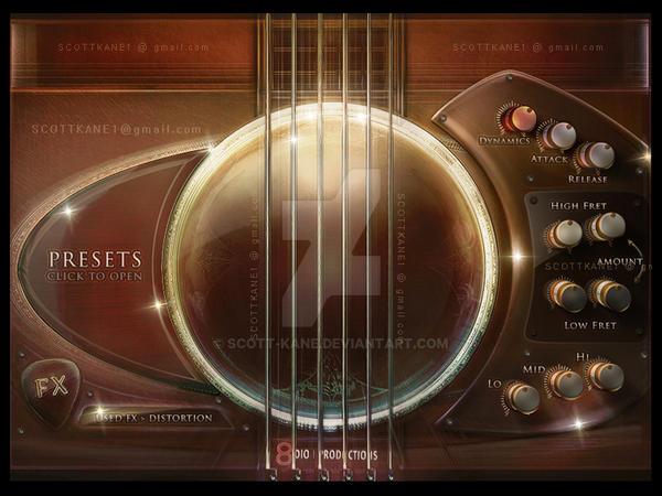 Steel Guitar Kontakt Gui by ScottKaneGUIs