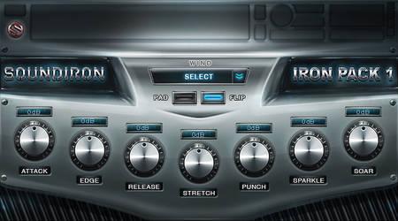 Soundiron Iron Pack VST plugin gui design