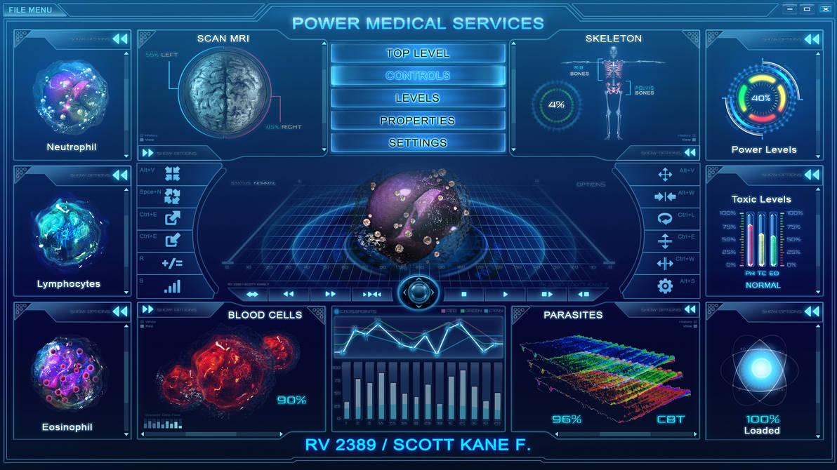 Hitech scifi medical user interface