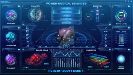 Hitech scifi medical user interface FOR SALE