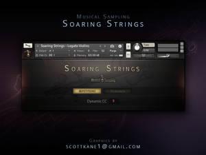 MS Soaring Strings Kontakt Library Gui Design