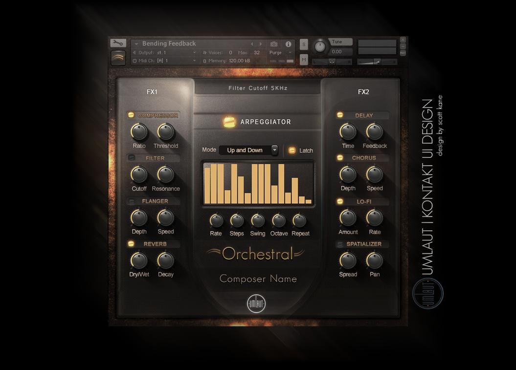 Orchestral Kontakt GUI Interface by ScottKaneGUIs