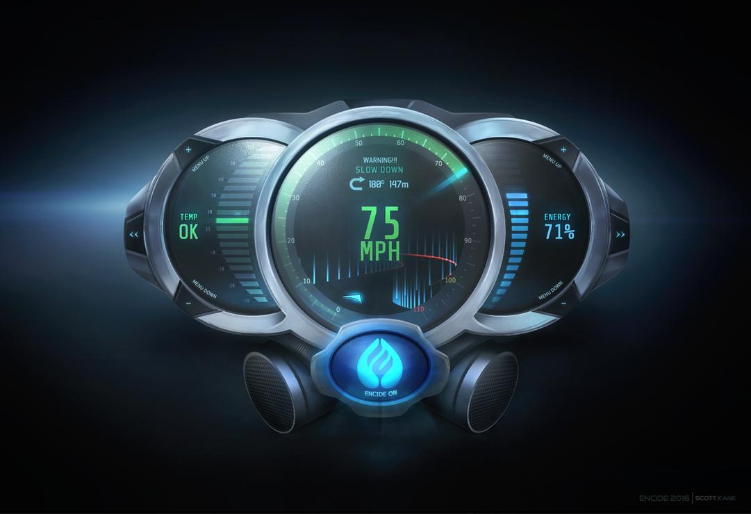 Futuristic Meters GUI Encide 2016 by ScottKaneGUIs