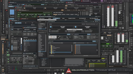 Titanium Style / Audio GUI Design