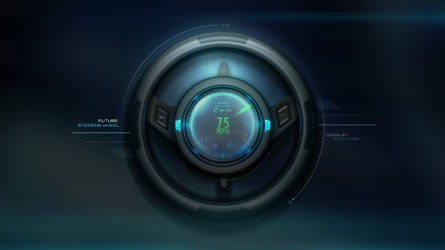 Futuristic Steering Wheel with LCD with GUI Design