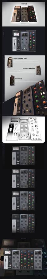Satson Channel Strip VST plugin Ui Design