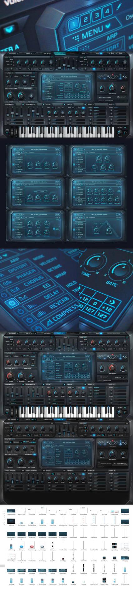 Sylenth1 Nitro Skin Audio VST GUI Design by Scott-Kane