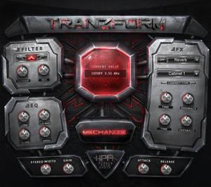 Tranzform Futuristic Fantasy GUI Design VST UI