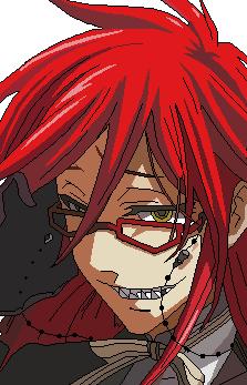 Grell Sutcliff - Kuroshitsuji (Pixel Art) by Miickye