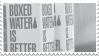 boxed water stamp