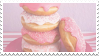donut stack stamp by stratosqueer