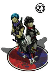 Kenzo and Kiryu the siameses by emrad