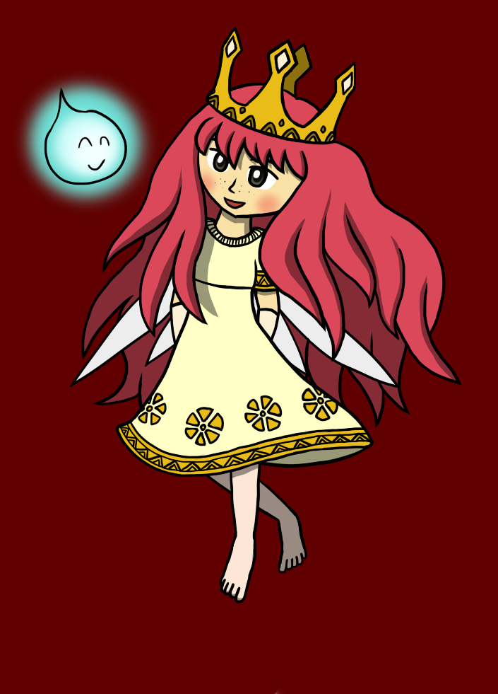 Child Of Light - Aurora and Igniculus by CyaniDairySentinel