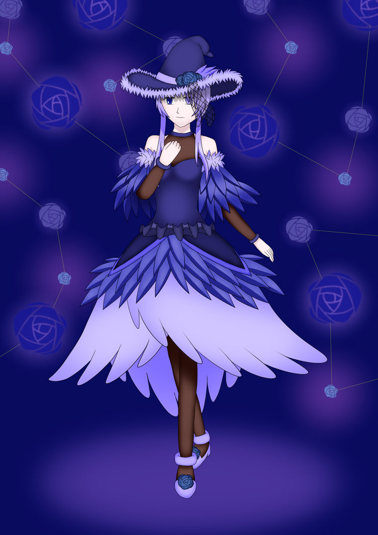 Yani the Blue Rose Witch by CyaniDairySentinel