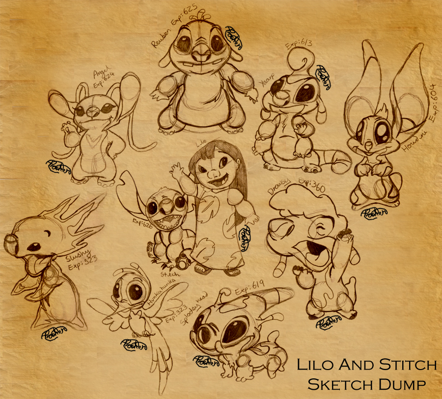 Sketches Of Stitch Images amp Pictures Becuo