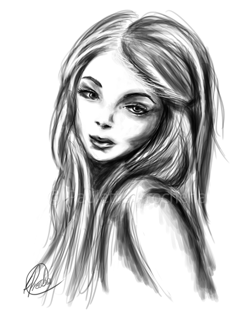 Sketch Girl By Parochena On Deviantart