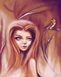 Sparrow In The Fire by parochena