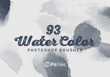 Free Water Color photoshop brushes PSFiles by PsFiles