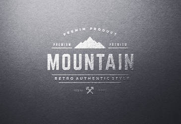 Embossed Texture Silver Foil Logo Mockups by PsFiles