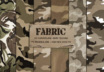 20 camouflage fabric texture photoshop brushes by PsFiles