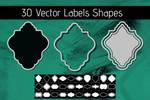 Label and Frame Photoshop Custom Shape