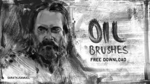 Oil Paint Brushes Set 1
