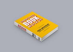 Hardcover Book PSD Mockup