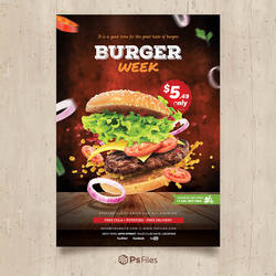 Burger Week Fast Food Free PSD Templates - PsFiles